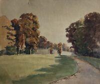 Aquarell Parklandschaft Anonym um 1920 Impressionist 18,5 x 22,3 cm