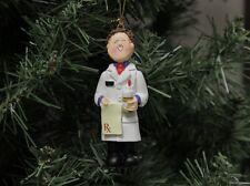 Pharmacist Christmas Ornament, Brown Hair