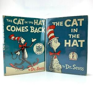 Dr. Seuss The Cat in the Hat & Cat Comes Back | Both Early 1st Editions w/ DJ