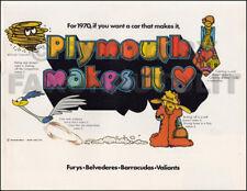 1970 Plymouth Sales Catalog Belvedere Satellite GTX Road Runner Roadrunner