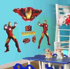 Grande Super Héros Iron Man The Avengers art vinyl wall stickers décoration film UK