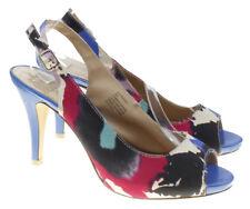 Mootsies Tootsies MO Biminy Womens Blue Multi-Color Slingback Heels Size 8M