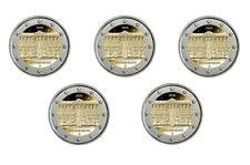 5 x 2 euro commemorativo Germania 2020 FDC UNC - Palazzo di Sanssouci 5 zecche