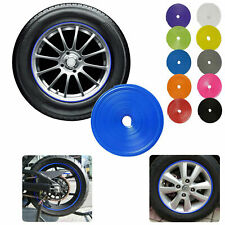 Car Wheel Hub Rim Edge Protector Ring Tire Guard Line Rubber Strip Sticker Kit