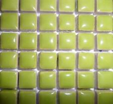 81 Mini Azulejos de mosaico de cerámica glaseada 10 Mm-Kiwi