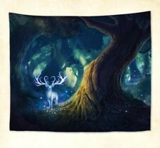 US Seller- fantasy forest tree deer wall hanging tapestry home decor items