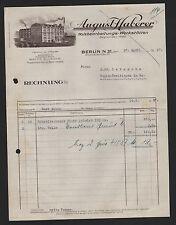 BERLIN, Rechnung 1937, Holzbearbeitungs-Werkstätten August Haberer