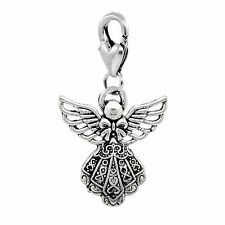 Guardian Angel Holiday Christmas Clip On Lobster Claw Dangle Charm for Bracelets