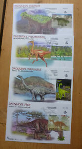 SPAIN 2016 DINOSAURE SET 4 FDC FIRST DAY COVERS