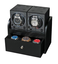 Wooden Housing for Boxy Watch Winder Black Power Plate Up to 6 Winders Drawer