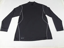 NIKE DRI-FIT GOLF INSULATED LONG SLEEVE BLACK LARGE ATHLETIC T-SHIRT F746