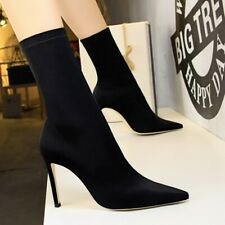 Womens Sexy High Heels Stilettos Ankle Socks Boots Pointed Toe Shoes Party Pumps