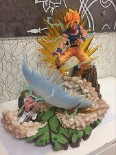 NEW-DBZ -DragonBall Z- Super saiyan Son SJJ Goku VS Buu Resin statue figure