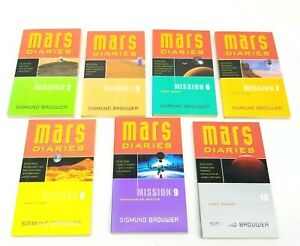 Mars Diaries Books Sigmund Brouwer Homeschool Sci-fi Space Youth Lot Of 7