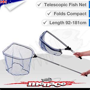LARGE Landing NET Space Saver Extendable Telescopic Folding Fishing Nets