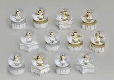 Statuine angelo bianco per l'albero di Natale