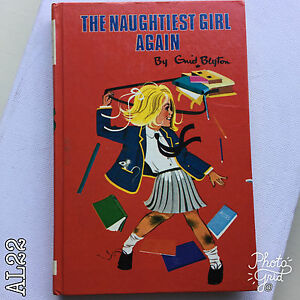 Vintage Book Title: The Naughtiest Girl Again by Enid Blyton Hardback 1972