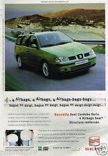Publicité advertising 2000 Seat Cordoba Vario