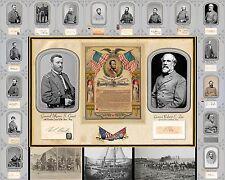 Civil War Poster Generals Battlefield scenes - emancipation proclamation
