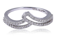 Pave 0.30 Cts Round Brilliant Cut Diamonds Engagement Ring In 750 Solid 18K Gold