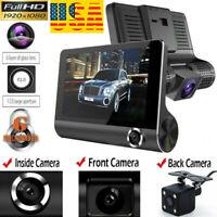 1080P Car DVR Dual  Dash Cam Front and G-sensor Rear Video Recorder Camera