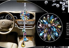 1pcs colored crystal flower Car vip Charms Chain for Rearview Mirror 28cm DIY