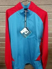 Brand New Men's Footjoy Hydroknit Pullover slate&red XLarge