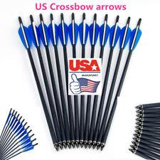 "USA 12PCS crossbow Hunting arrows 20""  Carbon Arrow 8.8mm  Broadheads  Archery"