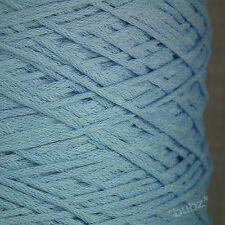 PERUVIAN PIMA COTTON YARN 4 PLY / DK 500g CONE 10 BALL BABY BLUE DOUBLE KNITTING