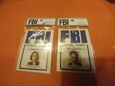 Nerd Block Exclusive X-Files Fox Mulder & Dana Scully FBI Air Freshener LOT OF 2