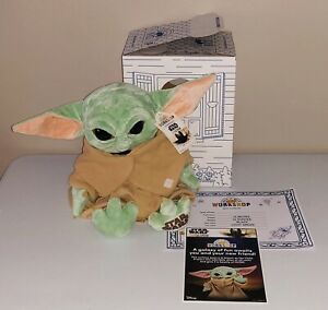 BUILD A BEAR THE CHILD MANDALORIAN BABY YODA w/ 5 in 1 SOUND, CERTIFICATE & BOX!