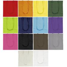 100% Cotton Canvas Bright Coloured Shopping Shoulder Tote Shopper Bags Reusable