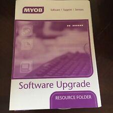 MYOB SOFTWARE UPGRADE RESOURCE FOLDER. DVD AND MANUALS.