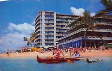The Reef Hotel On The Beach At Waikiki 1960s Hawaii Postcard