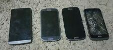 Lot 4 Cell Phones For Parts Or Repair see desc. Samsung Galaxy S3 LG G3 more