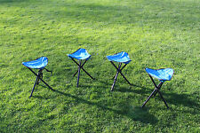 4 Pack Portable Camping & Hiking Chair, Folding Chair, Tripod Seat Stool