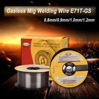 1KG 0.8/0.9/1.0/1.2MM E71T-GS Mig sans gaz Fil de Soudure Fourré à Souder Câble
