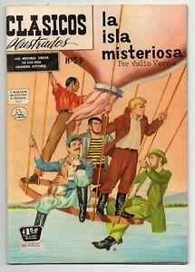 CLASICOS ILUSTRADOS #59 La Isla Misteriosa, La Prensa Mexican Comic 1957