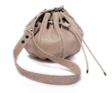 Genuine Italian Leather Nude/Beige Handbag By LUSSO - Super Soft and Slouchy!