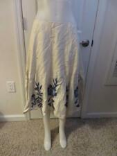 WOMENS SFERA IVORY/BLUE FLORAL BACK ZIP UP SKIRT SIZE 40 EURO