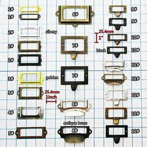 Cabinet Drawer Door Lab Tag Label Pull Frame Handle File Name Card Holder 4color