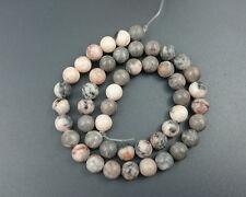 natural pink zebra jasper beads round loose stone beads wholesale 8mm