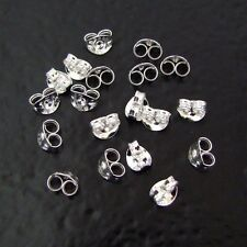 Ten - .925 Sterling Silver Small Ear Nuts, Made in USA