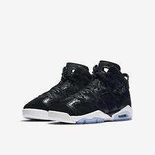 "Air Jordan 6 Retro Premium GG ""Heiress"" - Size 6Y - Black Suede - 881430-029"