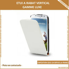 Etui rabat gamme luxe pour Apple iPhone 4 / 4S Blanc