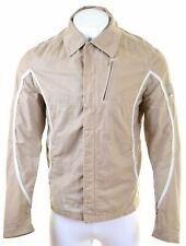 TRUSSARDI Mens Harrington Jacket IT 50 Large Beige Cotton  CL02