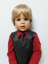 "NWT Exclusive Masterpiece Doll Julian Blonde By Monika Peter-Leicht 32"" Jointed"