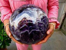 40.52lb HUGE NATURAL Dream Amethyst quartz crystal sphere ball Healing