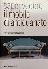 Saper vedere il mobile di antiquariato. Dal Rinascimento al déco-Ed.Mondadori