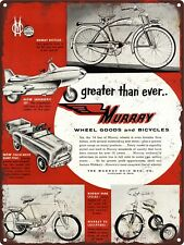 """1956 Murray Pedal Car Super Sonic Jet Police Humor truck Metal Sign 9x12/"""" A092"""
